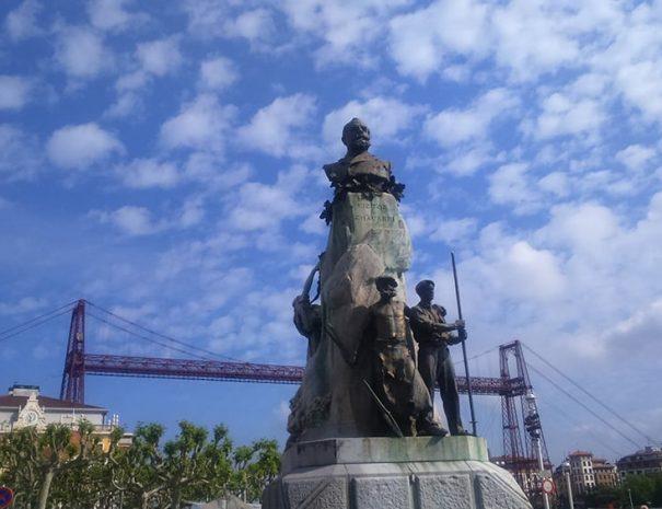 Bilbao y puente colgante - ruta guiada